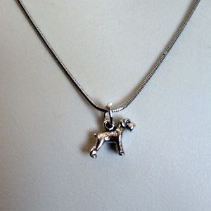 925 Sterling silver schnauzer necklace❤️